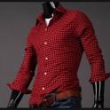 Koszula czerwono-czarna krata SOL10077